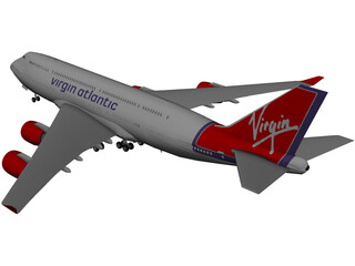 Boeing 747 Virgin Atlantic 3D Model