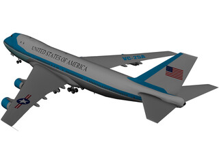 Air Force One USA Boeing 707 3D Model