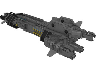 H.M.S.S. Thunderchild Space Ship 3D Model
