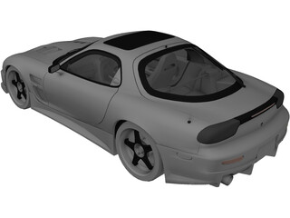 Mazda RX-7 FD3S Tuned 3D Model