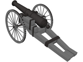 Cannon 19th Century 3D Model