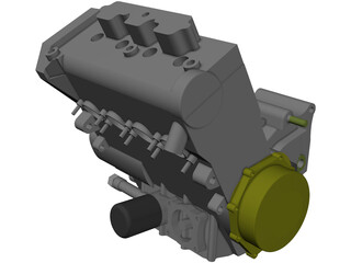 Engine Honda CBR-600RR (2005) 3D Model