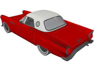 Ford Thunderbird (1955) 3D Model