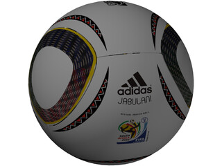 Soccer Ball Adidas Jabulani Official FIFA World Cup 2010 3D Model