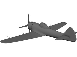 A6M2-0 Airplane 3D Model