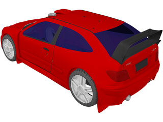 Citroen Xsara Coupe Rally Car 3D Model