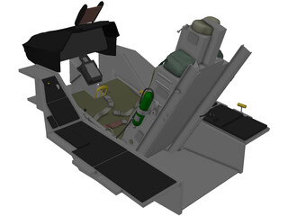 F-16 Ejection Seat 3D Model