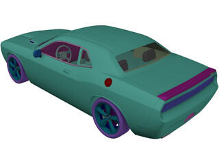 Dodge Challenger SRT8 3D Model