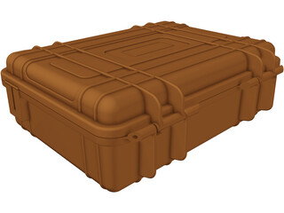 Hard Shell Pelican Camera Storage Case 3D Model