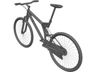 Bike Mountain Full Suspension 3D Model