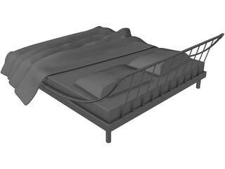 Double Bed Large 3D Model