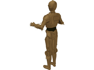Star Wars C3PO Robot 3D Model