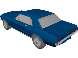 Ford Mustang (1967) 3D Model
