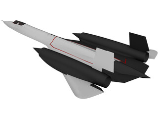 Lockheed SR-71 Blackbird 3D Model