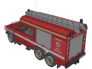 Land Rover Defender 126/HCB Angus 6x6 3D Model