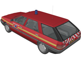 Renault 21 Nevada Fire 3D Model