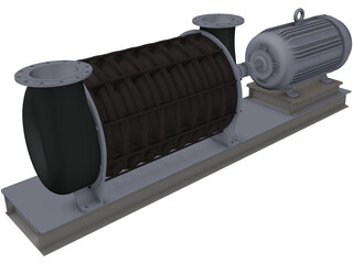 HSI Centrifugal Blower 3D Model