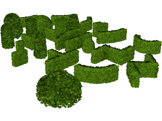 Hedge Plant Collection 3D Model