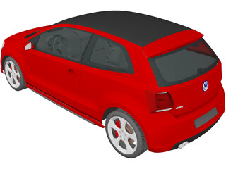 Volkswagen Polo GTi (2011) 3D Model
