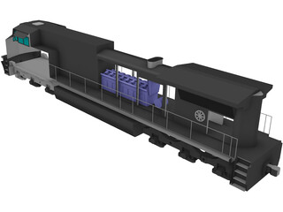 GE Dash 9-CW44 Locomotive 3D Model