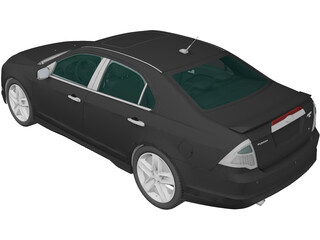 Ford Fusion Sport (2010) 3D Model