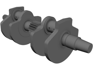 Honda VFR 400 NC30 Crankshaft 3D Model