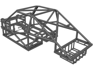 Spaceframe Chassis 3D Model