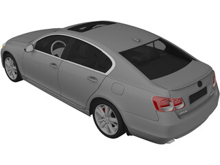 Lexus GS 450h (2010) 3D Model