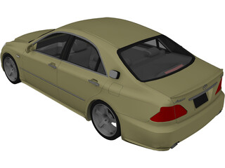 Toyota Crown S180 3D Model