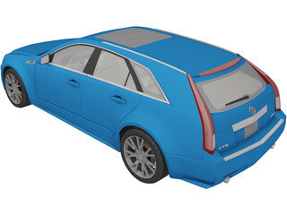 Cadillac CTS Sport Wagon (2010) 3D Model