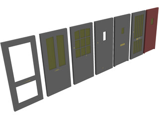 Door Collection 3D Model