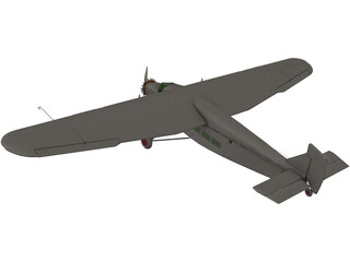 Ford A5 Trimotor 3D Model