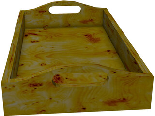 Wooden Tray 3D Model