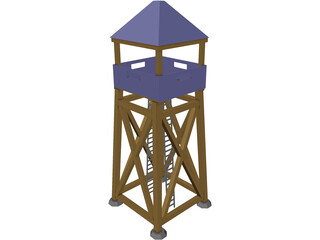 Guard Tower Middle Ages 3D Model