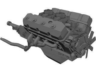 Engine Ford Mustang 3D Model