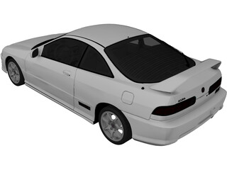 Acura Integra Type-R (2001) 3D Model