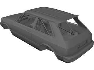 Toyota Starlet KP61 Rally Body 3D Model