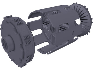 Self-Locking Differential 3D Model