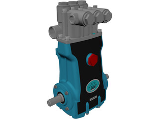 CAT 2510 High Pressure Pump 3D Model