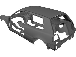 Volkswagen Golf Body 3D Model