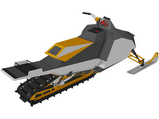 Mountian Snowobile 3D Model