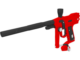 Paintball Gun 3D Model