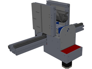 CNC Gantry Router Holder and Movement Construction 3D Model