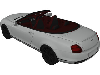 Bentley Continental GT Supersports Convertible (2011) 3D Model