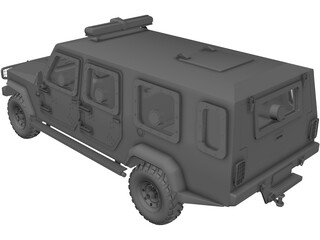 Jeep Agrale Double Cab 3D Model