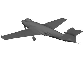 Hawker Sea Hawk 3D Model