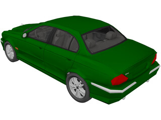 Jaguar X Type (2003) 3D Model