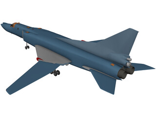 Tupolev Tu-22 Blinder 3D Model