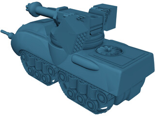 Glory Fire Support Tank 3D Model