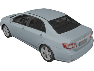 Toyota Corolla Sedan (2010) 3D Model